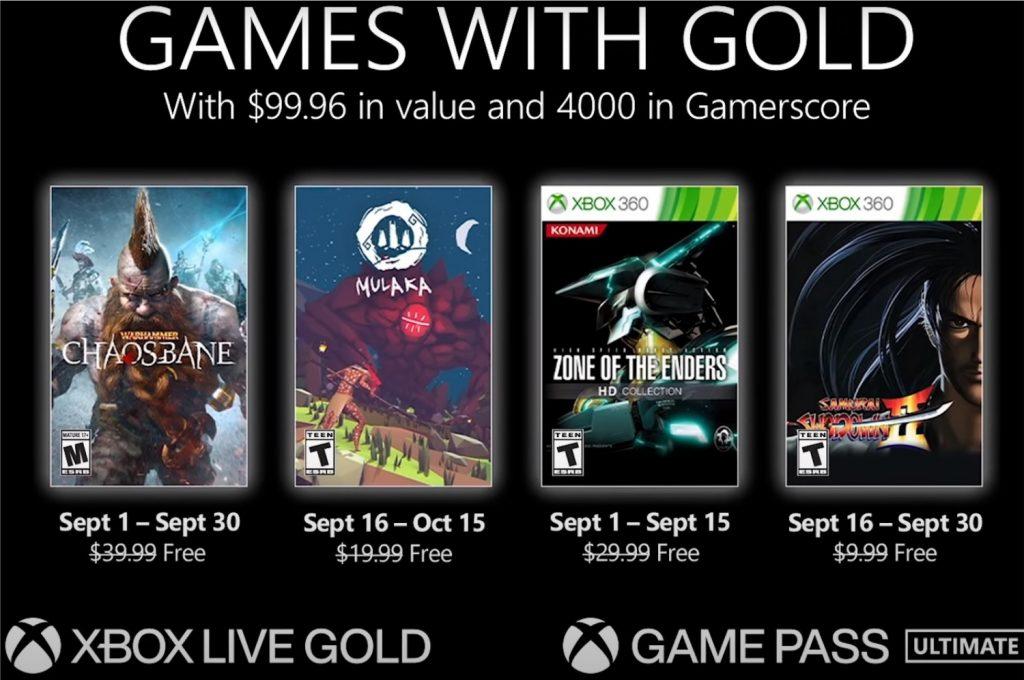 Jogos grátis do Xbox Games with Gold em Setembro de 2021 (Imagem: Divulgação/Microsoft   Xbox)