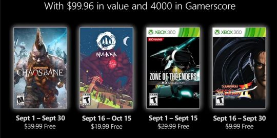Jogos grátis do Xbox Games with Gold em Setembro de 2021 (Imagem: Divulgação/Microsoft | Xbox)
