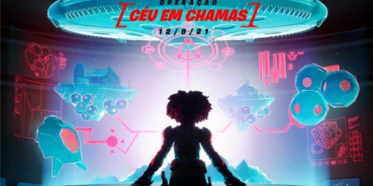Imagem promocional do evento Operação: Céu em Chamas (Imagem: Divulgação/Fortnite   Epic Games)