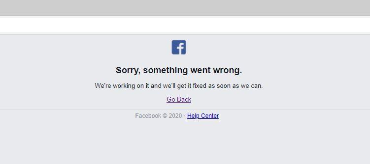Mensagem de erro ao tentar acessar o Instagram na manhã desta quinta-feira (Captura: Alexandre Garcia Peres | Tech News Brasil)