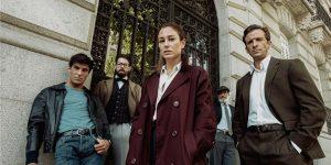 Elenco principal da série espanhola Jaguar, mais novo lançamento da Netflix (Imagem: Divulgação/Netflix)