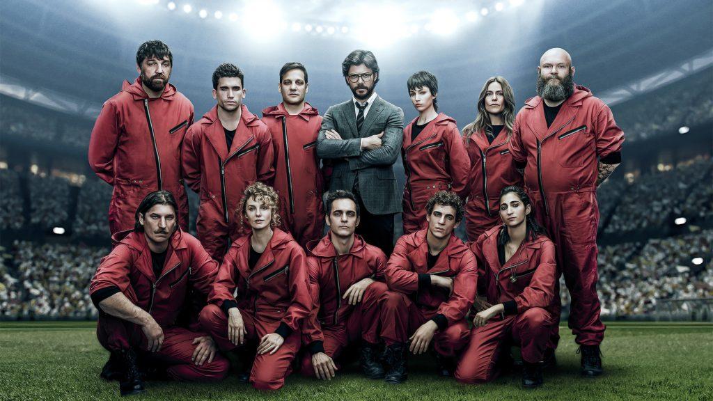 A equipe na 4ª temporada de La Casa de Papel (Imagem: Divulgação/Netflix)