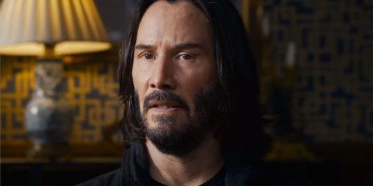 Keanu Reeves no papel de Neo no recente trailer de Matrix 4 (Imagem: Divulgação/Warner Bros.)