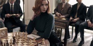 A atriz Anya Taylor-Joy como Beth Harmon na série O Gambito da Rainha (Imagem: Divulgação/Netflix)