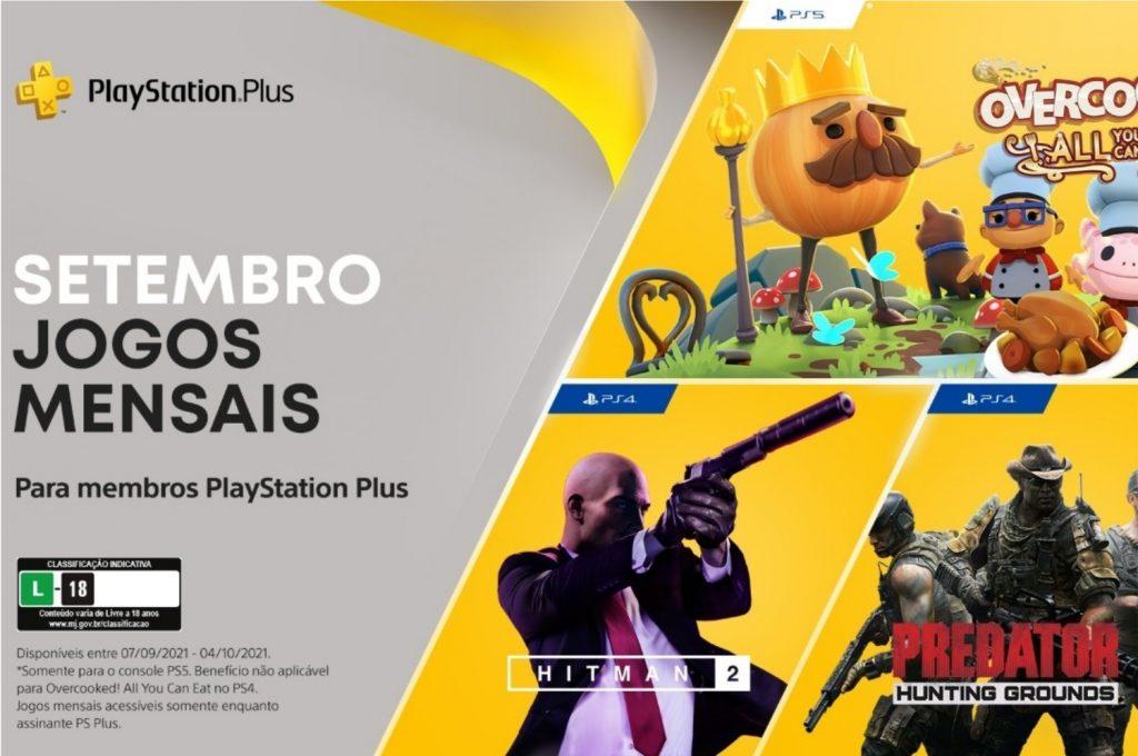 Overcooked! All You Can Eat, Hitman 2 e Predator: Hunting Grounds são os jogos grátis de setembro de 2021 do PlayStation Plus (imagem: Divulgação/Sony)
