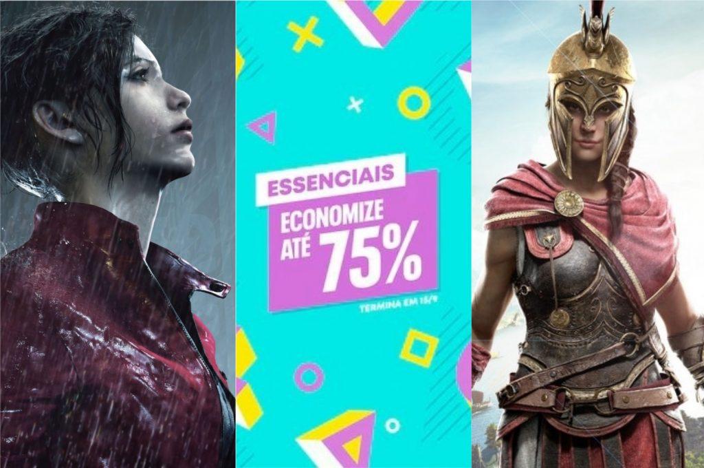 Resident Evil 2 Remake e Assassin's Creed Odyssey são alguns dos destaques da promoção Essenciais que começou hoje (Imagem: Divulgação/PlayStation Store)