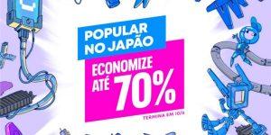 Imagem promocional da promoção 'Popular no Japão' da PlayStation Store (Imagem: Divulgação/Sony)