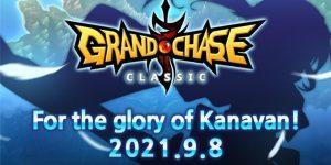 Imagem promocional anunciando a chegada de Ronan ao Grand Chase Classic no dia 08 de setembro (Imagem: Divulgação/KOG Games)