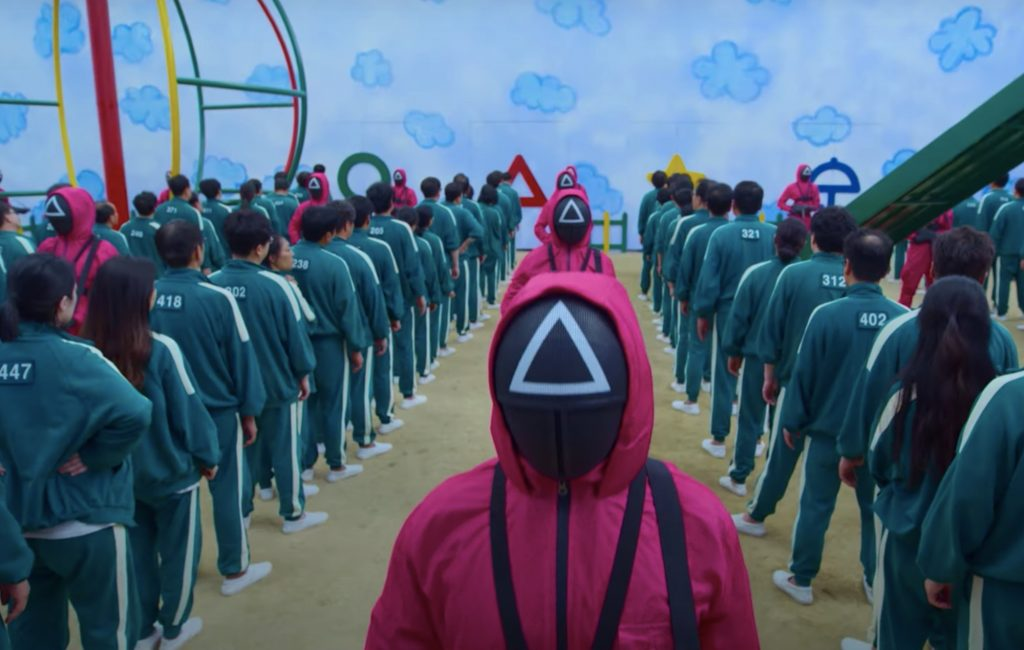 Cena da primeira temporada de Round 6 (Imagem: Divulgação/Siren Pictures Inc.   Netflix)
