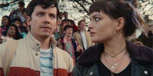 À esquerda, Asa Butterfield como Otis; à direita, Emma Mackey como Maeve (Imagem: Divulgação/Netflix)