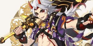 Arataki Itto, novo personagem 5 estrelas de Genshin Impact (Imagem: Divulgação/miHoYo)