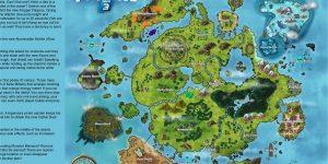 Possível mapa do Capítulo 3 de Fortnite criado por um fã, mas inspirado num suposto vazamento verdadeiro (Imagem: Reprodução/Reddit/u/Edmire2k)