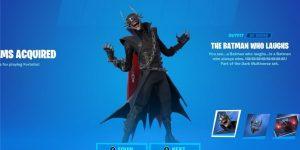 A skin O Batman Que Ri dentro do Fortnite (Imagem: Reprodução/@HYPEX)