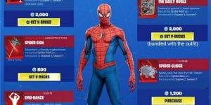 Concept art (não-oficial) de como possivelmente seria a skin de Homem-Aranha no Fortnite, feita por um usuário do Reddit (Imagem: Reprodução/reddit.com/u/SuperAlex25)
