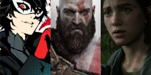 Persona 5 Royal, God of War e The Last of Us Part II são alguns dos jogos em promoção na PlayStation Store (Imagem: Reprodução/Atlus   Santa Monica   Naughty Dog)