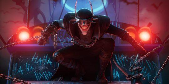O Batman Que Ri, nova skin do Fortnite (Imagem: Divulgação/Epic Games | DC Comics)